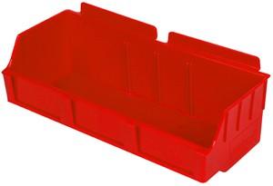"""Red Plastic Slatwall Bin 11.5""""x4.5""""x3"""": BOX2-RD"""