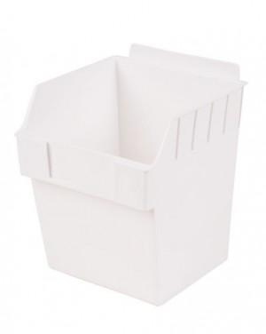 """Slatwall Box 6"""" x 6"""" x 7"""" White: BOX3-WH"""