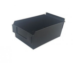 "Slatwall Box 8 3/4"" x 5 1/2"" x 3 1/2"" Display Bin Black: BOX5-BK"