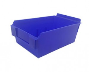 "Slatwall Box 8 3/4"" x 5 1/2"" x 3 1/2"" Blue Display Bin: BOX5-BL"
