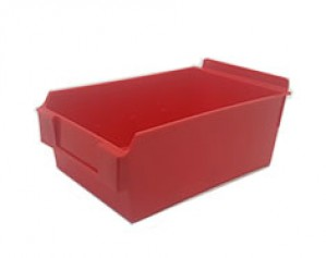 "Slatwall Box 8 3/4"" x 5 1/2"" x 3 1/2"" Display Bin Red: BOX5-RD"