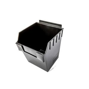 """Slatwall box 11"""" x 11"""" x 7"""" Cube Black: BOX4-BK"""