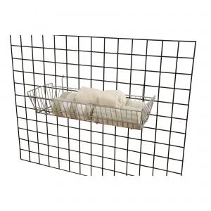 "Grid/Slatwall Basket 10"" x 24"" x 5"" Chrome: BSK12-CH 3"