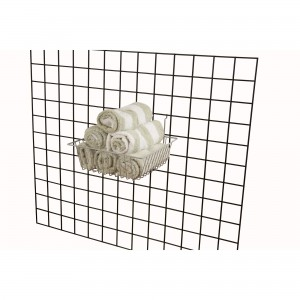 "Grid/Slatwall Basket 12"" x 12"" x 4"" Chrome: BSK13-EC  2"
