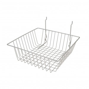 Assorted Grid/Slatwall Basket Chrome 6