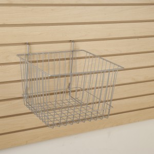 "Grid/Slatwall Basket 12"" x 12"" x 8"" Chrome: BSK15-EC 2"