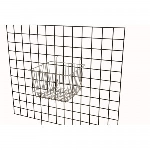 "Grid/Slatwall Basket 12"" x 12"" x 8"" Chrome: BSK15-EC 3"