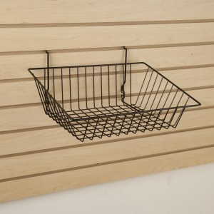"Grid Slatwall Basket 15"" x 12"" x 5""  2"