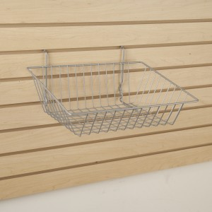 "Grid Slatwall Basket 15"" x 12"" x 5"" Chrome 3"