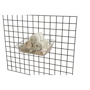 "Grid Slatwall Basket 15"" x 12"" x 5"" Chrome 2"