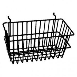 "Grid Slatwall Basket 12"" x 6"" x 6"" Chrome 3"