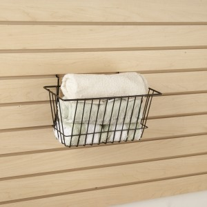 "Grid Slatwall Basket 12"" x 6"" x 6"" Black 5"