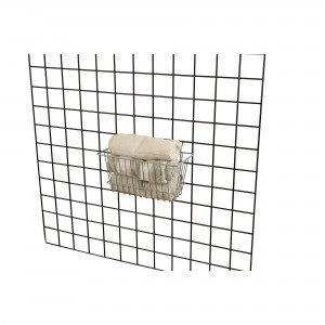 "Grid Slatwall Basket 12"" x 6"" x 6"" Chrome 2"