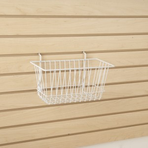 "Grid/Slatwall Basket 12"" x 6"" x 6"" White"