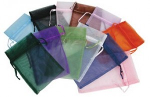Drawstring Organza Pouches Assorted