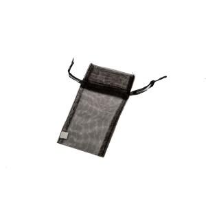 Organza Drawstring Pouches Black Mini
