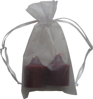 Organza Drawstring Pouches Black