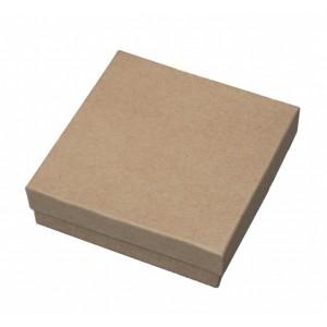 "Kraft Box 3"" x 3"" Brown"