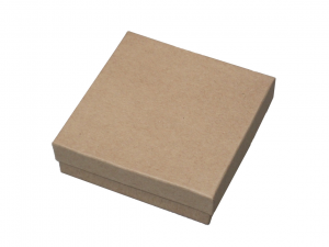 "Kraft Box 3"" x 3"" Brown"
