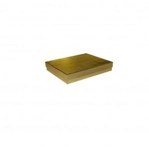 """Box 3.5"""" x 3.5"""" x 1"""" Gold Linen: BX2833A"""
