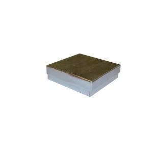 """Box 3.5"""" x 3.5"""" x 1"""" Silver Linen: BX2833B"""