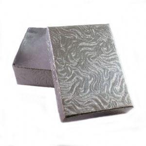 Cotton Filled Swirl Patterned Jewelry Box.