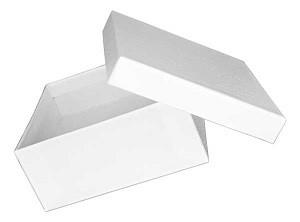 """Cotton Filled Swirl Patterned Jewelry Box 3 3/4"""" x 3 3/4"""" x 2"""""""