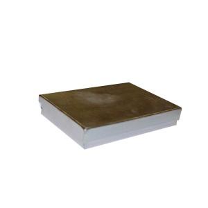 """Box 3.25"""" x 2.25"""" x 1"""" Silver Linen: BX2853B"""