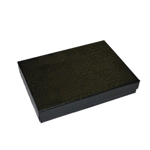 "Box 5 3/8"" X 3 7/8"" X1""  Swirl Black:"