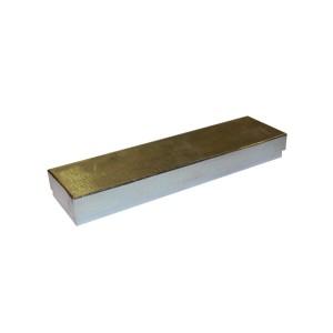 """Box 8"""" x 2"""" x 1"""" Silver Linen: BX2882B"""