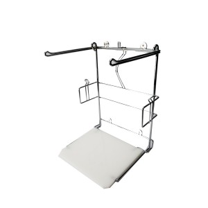 T-Shirt Bag Holder Chrome/White 3
