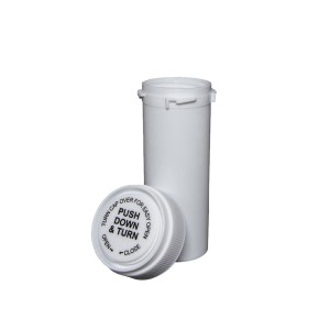 16 Dram Reversible Cap Certified Child Resistant Flower Jars White