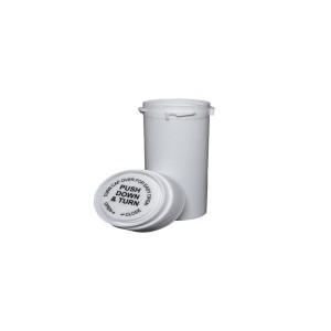 20 Dram Reversible Cap Certified Child Resistant Flower Jars White