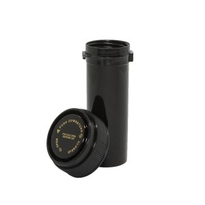 60 Dram Reversible Cap Certified Child Resistant Flower Jars Black