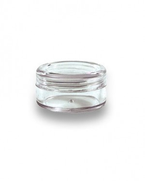 Polystyrene Screw Top 5ML Clear Concentrate Container