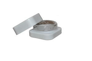9mL QUBE™ White Opaque Premium Glass Concentrate Jar 2