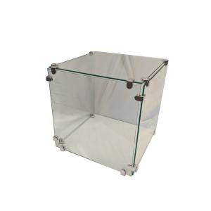 "Glass Cube Display 16"" x 16""   5"