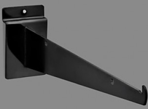 "Slatwall Shelf Bracket 12"" Black 3"