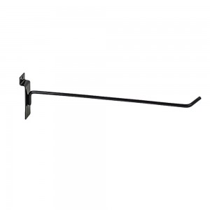 "Slatwall Hook 12"" Black: EBL-H12"