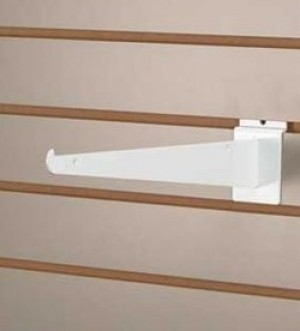 "Slatwall Shelf Bracket 12"" White 2"