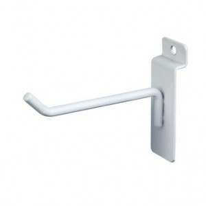 "Slatwall Hook 4"" White"