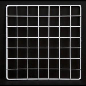"Grid square 10"" white. 1"