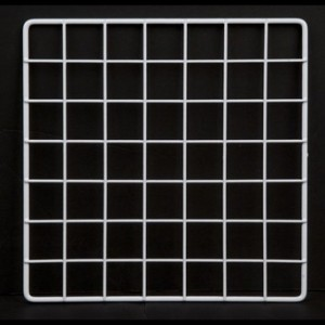 "Grid Square 14"" White 2"
