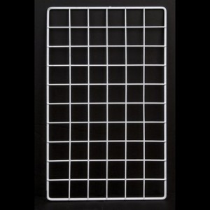 "Grid rectangular 10"" x16"" white"
