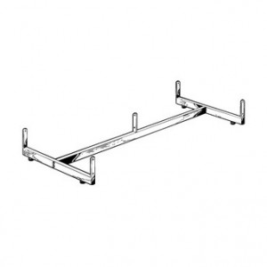Gridwall Base H Frame With Casters Chrome 2