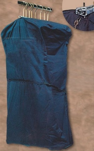 "Blue garment bag 48""  2"