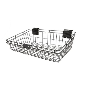 "Slatwall Basket 12"" x 24"" Black: HSB1224B"
