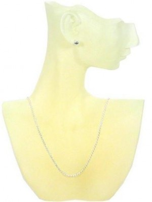 Necklace And Earring Display Frost Colored Yellow