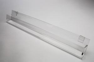 "Acrylic Gridwall J Rack With Gaps 23"""