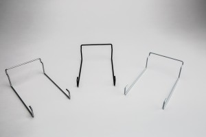Slatwall Single Cap Rack Chrome